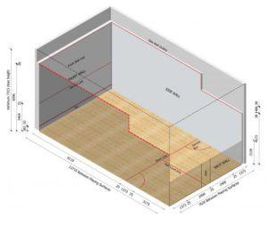dimensiones pista de squash